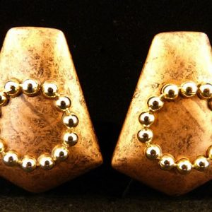 Vintage Coppertone Clipped Earrings