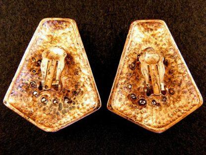 Vintage Copper Tone Clip On Earrings