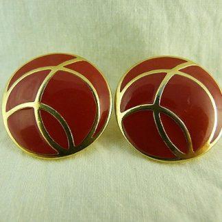 Monet Enamel Clip Earrings