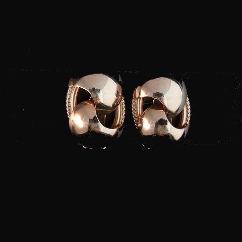 Gold Tone Clip Earrings
