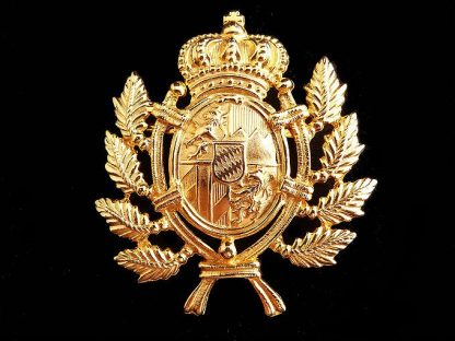 Gold Tone Crown and Shield Brooch