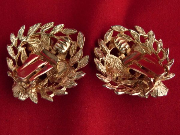 Judy Lee Gold Tone Clip Earrings