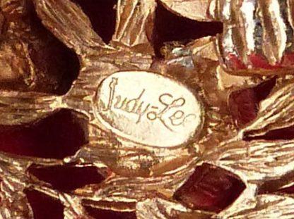 Judy Lee Gold Tone Clip Earrings