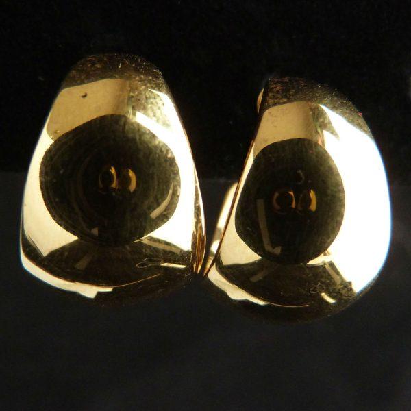 Gold Tone Hoop Pierced Earrings