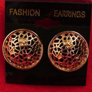Gold Tone Filigree Circles