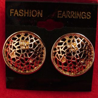 Gold Tone Filigree Circles