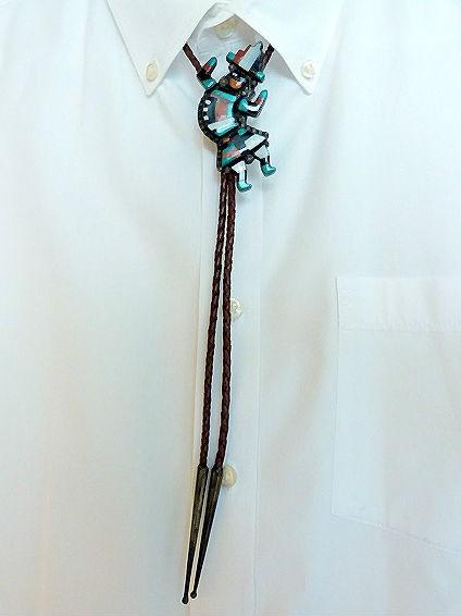 Vintage Zuni Dancer Bolo Tie