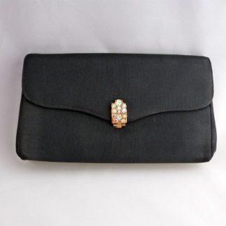 Black Faille Clutch Purse