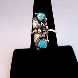 Native American Vintage Pawn Turquoise Ring