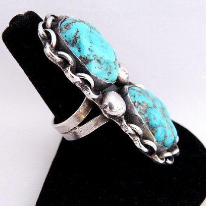 Navajo Turquoise Vintage Old Pawn Ring