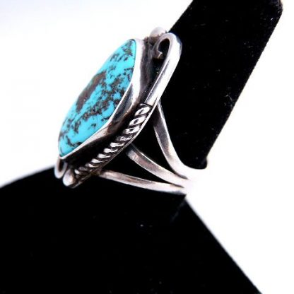 Vintage Native American Old Pawn Turquoise Ring