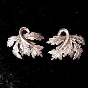 Acanthus Leaf Clip Earrings