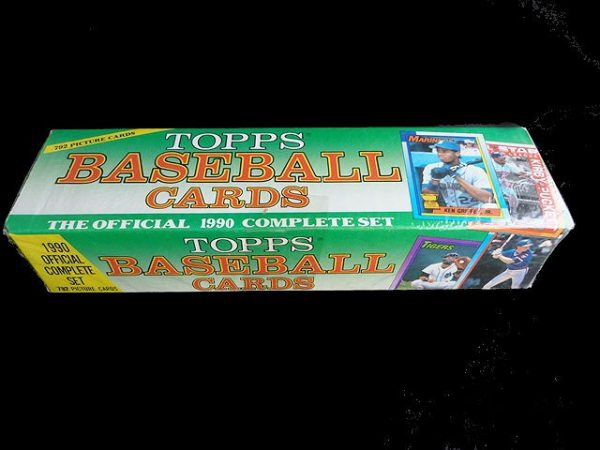 Collectible Topps Baseball Trading Cards: Official 1990 Complete Set