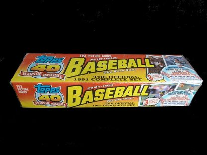 Collectible Topps Baseball Trading Cards: Official 1991 Complete Set