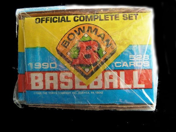 Collectible Bowman Baseball Trading Cards: Official 1990 Complete Set