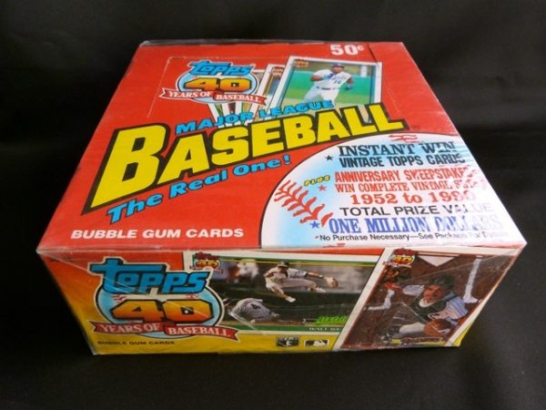 Collectible Topps 40 years of Baseball Trading Cards: 1991 the Real One