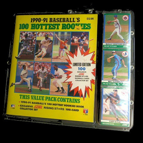 Collectible 1990 91 Score Mlb Trading Cards 1990 91 Score Mlb 100 Hottest Rookies Trading Cards