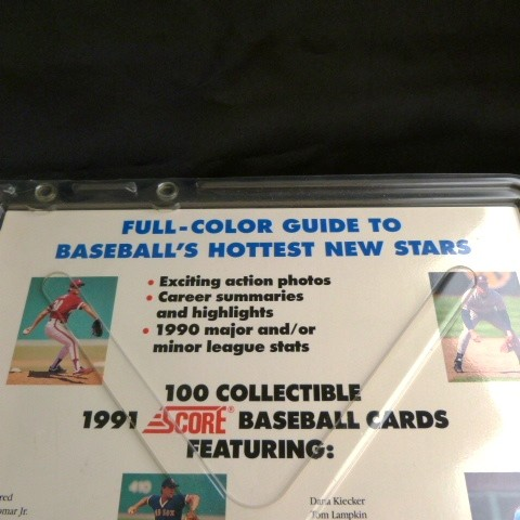 Collectible 1990-91 Score MLB Trading Cards: 1990-91 Score MLB 100 Hottest Rookies Trading Cards