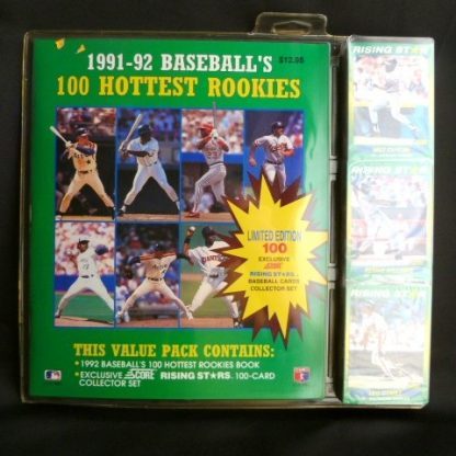 1991-92 Baseball's 100 Hottest Rookies. Collectible 1991-92 Score MLB Trading Cards: 1991-92 Score MLB 100 Hottest