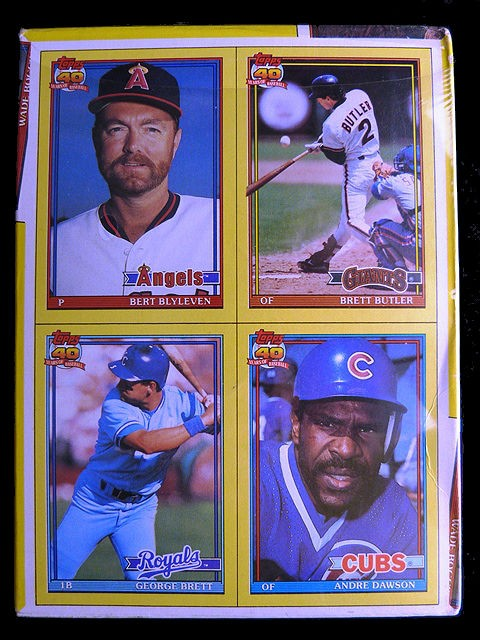 Collectible Topps 40 Years Of Baseball Trading Cards 1991 The Real One