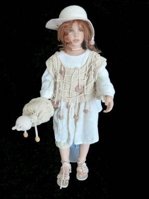 Vintage collectible limited edition porcelain Maya doll by Zawieruszynski