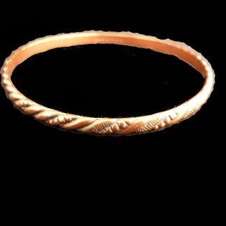 Vintage 1970's Solid Copper Bangle Bracelet