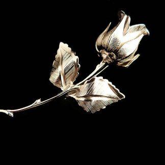 Vintage Silver Tone Giovanni Rose Brooch