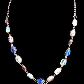 Anne Klein Gold Tone Mixed Stone Vintage Necklace