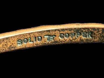 Vintage Solid Copper Bangle Bracelet