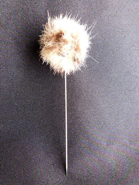 Vintage Stick Pin with Mink Top