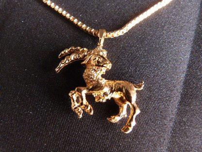 Vintage Gold Tone Monet Ram Necklace