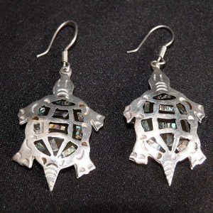 Vintage French Hook Turtle Earrings