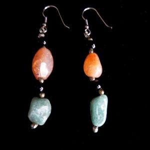 Vintage Agate Drop Earrings