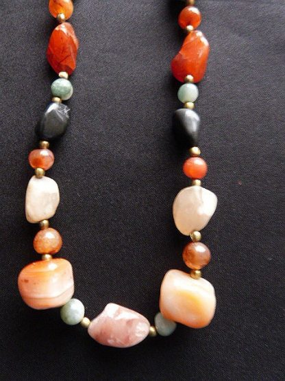 Vintage Hipppie Look Agate Necklace