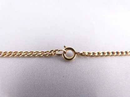 Vintage Brown Agate Slice Pendant Necklace