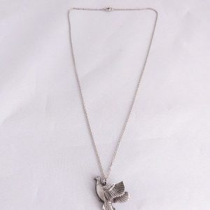 Vintage Pewter Pheasant Necklace