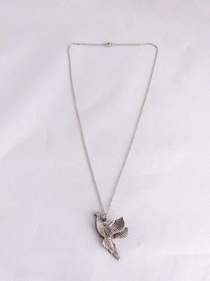 Vintage Pewter Pheasant Necklace