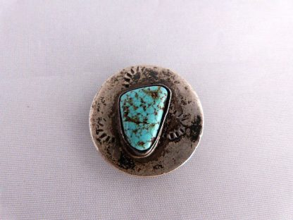 Vintage Turquoise and Silver Bolo Tie Slide