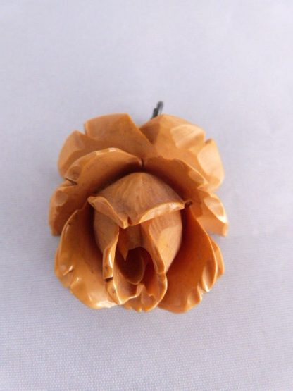 Vintage Bakelite Butterscotch Rose Pendant