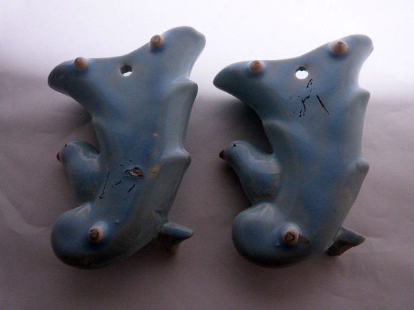 Vintage McCoy Ceramic Pocket Wall Vases