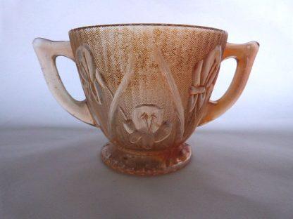 Jeannette Glass Sugar Bowl