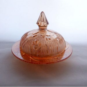 Jeanette Glass Covered Butter Dish