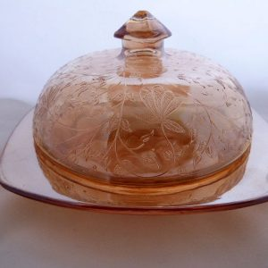 Covered Butter Dish - Louisa by Jeannette Glass