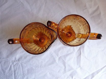 Vintage Sugar Bowl and Creamer- Daisy by Indiana Glass