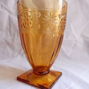Vintage Footed Tumbler- Daisy by Indiana Glass
