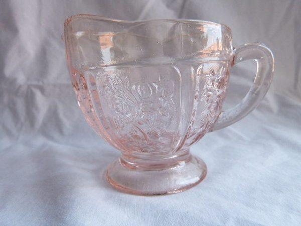 Vintage Sharon-Pink Creamer by Federal Glass