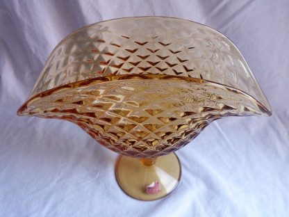 Vintage Viking Glass Amber Compote Dish