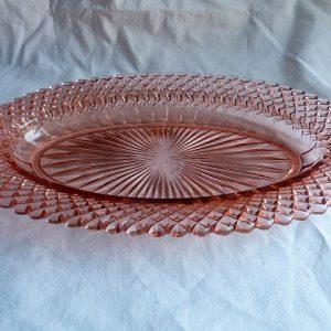 Vintage Miss America Pink Depression Glass Celery Dish