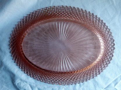 Vintage Miss America Pink Depression Glass Serving Platter