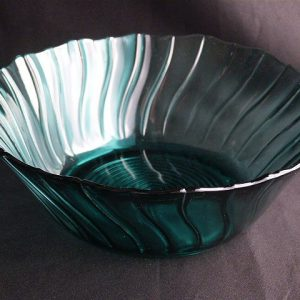 Vintage Ultramarine Salad Bowl by Jeannette Glass